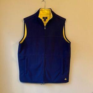 SOLD 346 Brooks Brothers Reversible Fleece Vest